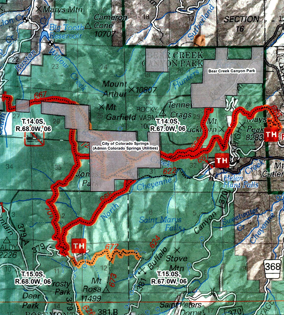 Several Bear Creek Watershed Trails Closed By Forest Service - Us forest service ecoregion map