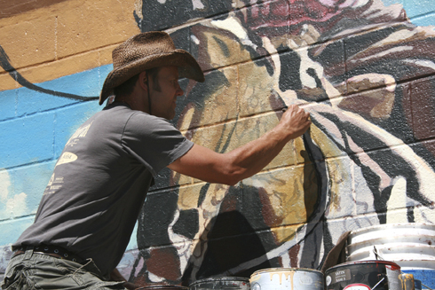 South Wall Mural Attracts Eighth Street Eyes To Venerable